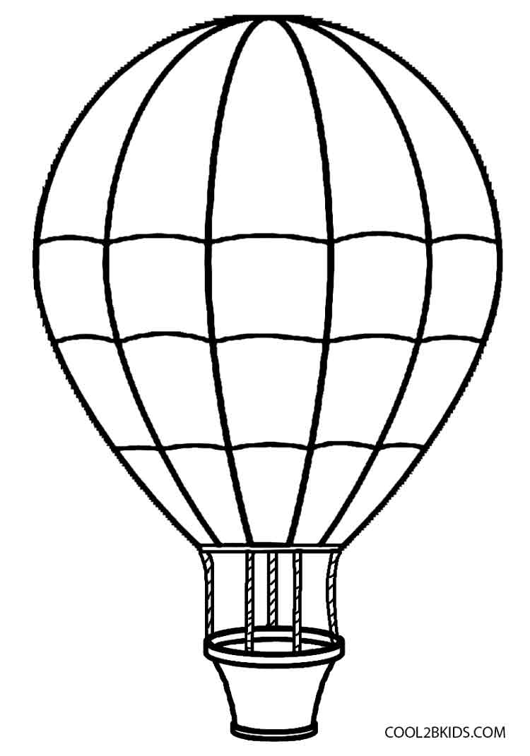 750x1071 Fancy Hot Air Balloon Coloring Page 19 With Additional Line