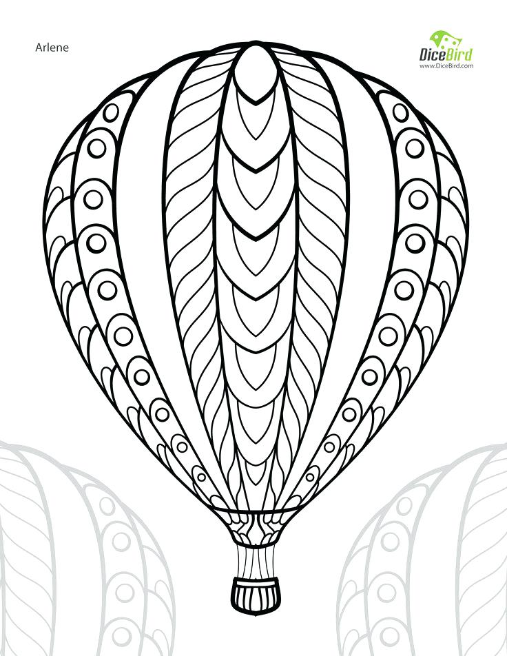 736x952 Free Color Page Hot Air Balloon Adult Free Printable Colouring