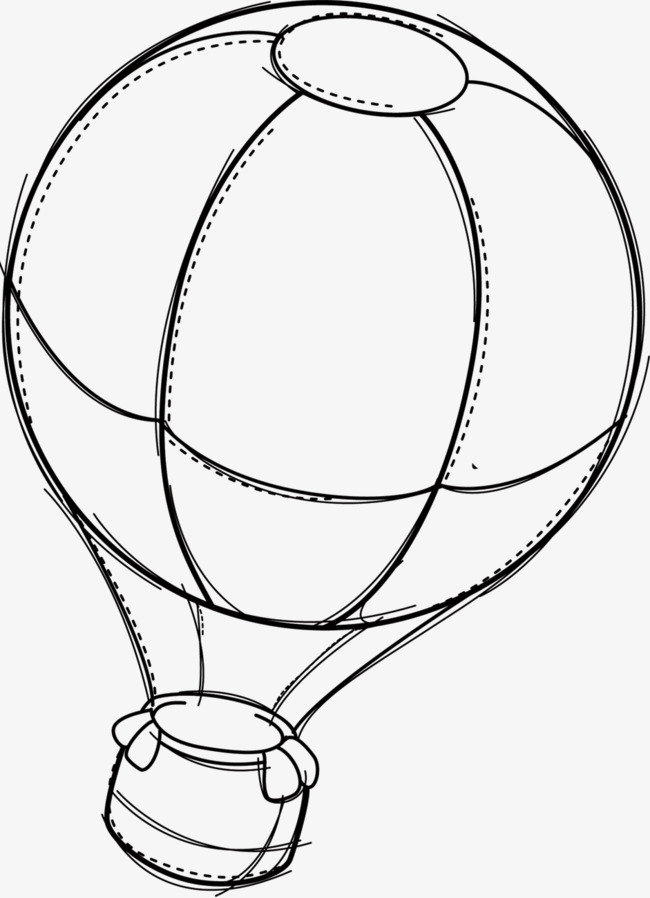 650x898 Hand Drawn Sketch Lines Hot Air Balloon, Line, Hand Painted