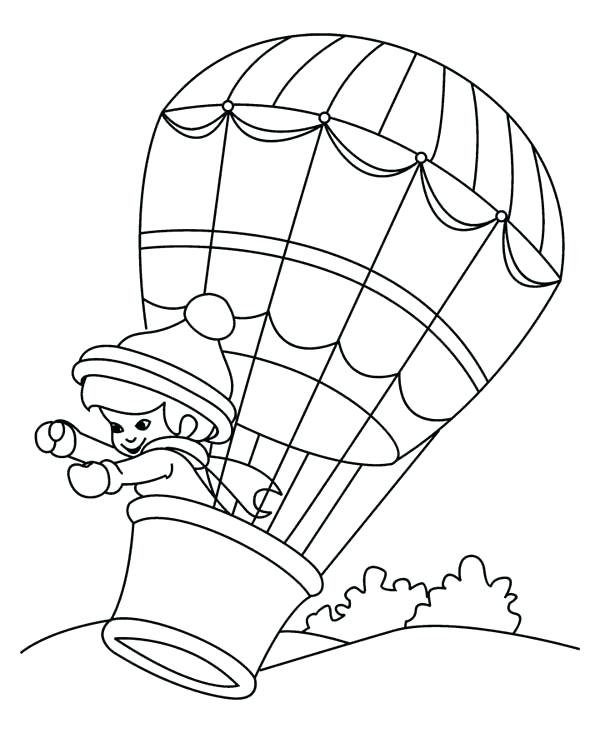 600x733 Hot Air Balloon Coloring Pages Hot Air Balloon Coloring Page