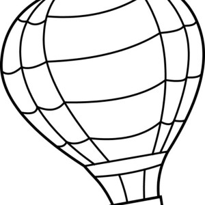 300x300 Hot Air Balloon Zeppelin Coloring Pages Bulk Color
