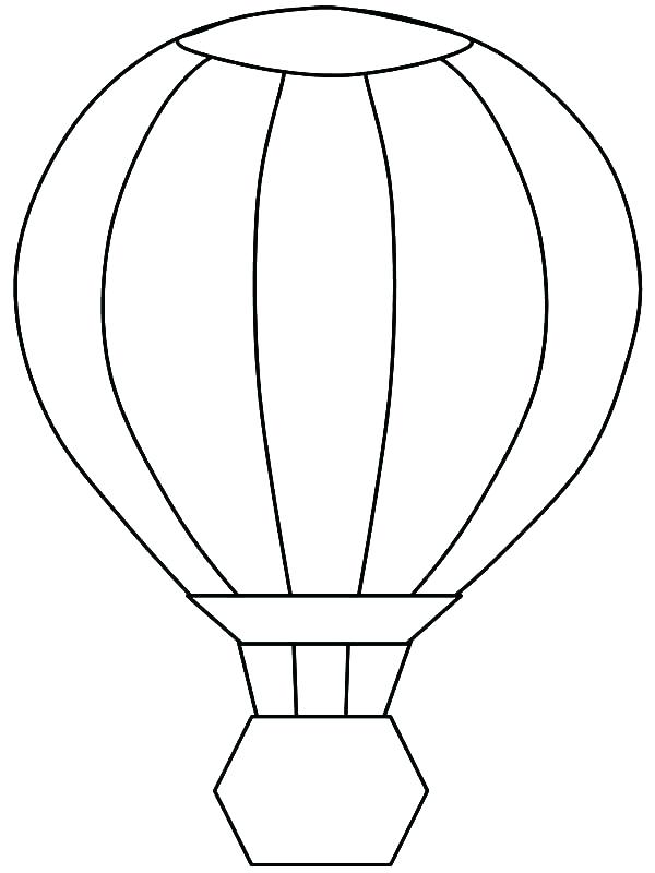 600x800 Balloon Coloring Page Birthday Hot Air Balloon Coloring Pages