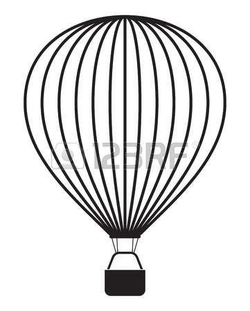 361x450 Hot Air Balloon Clipart Sketch