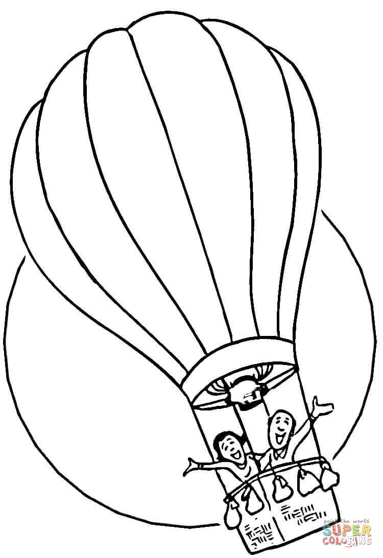 750x1093 Hot Air Balloon Black And White Hot Air Balloon Coloring Page Free