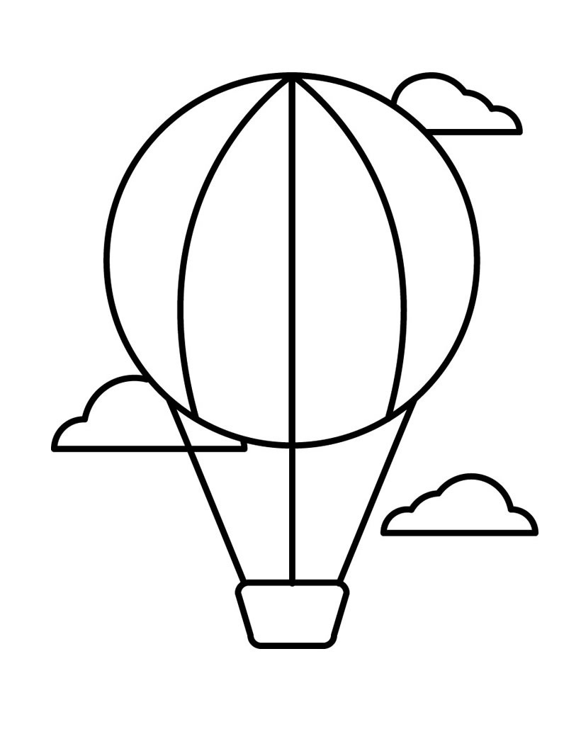 820x1060 Hot Air Balloon Free And Pritnable Template 2 String Art