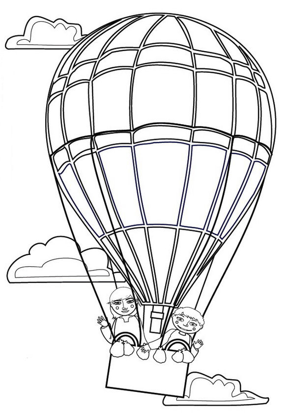 580x845 Kids N 11 Coloring Pages Of Hot Air Balloons