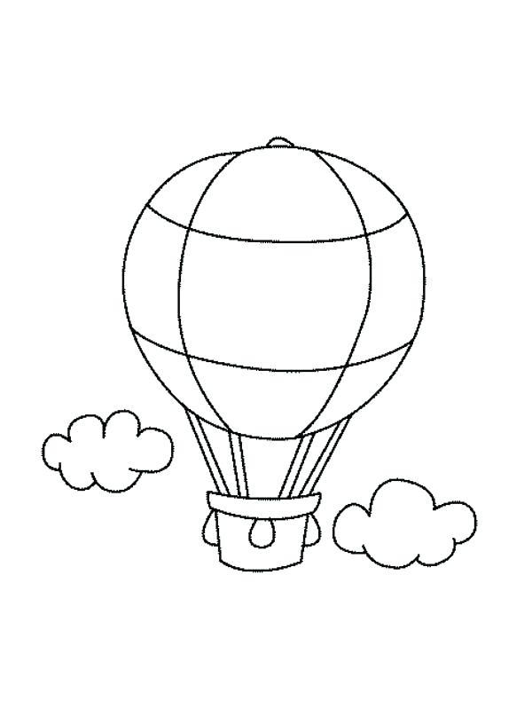 600x799 Balloon Coloring Pages Drawing Hot Air Balloon Coloring Pages
