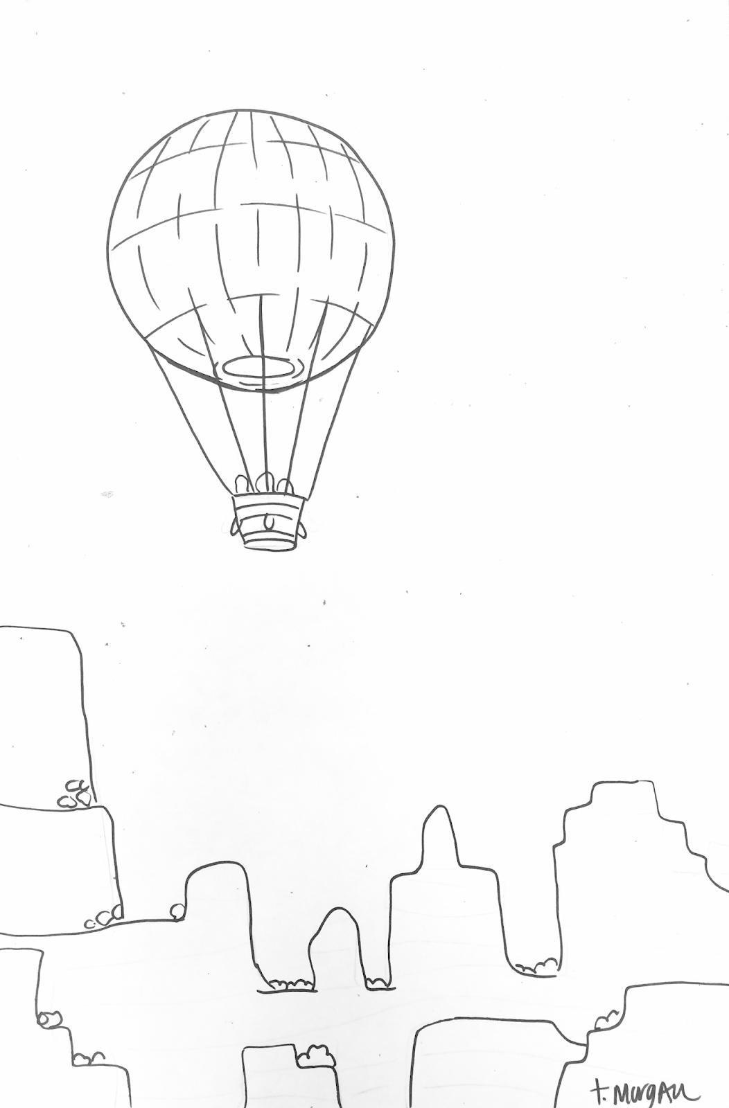 1052x1600 The Lost Sock Hot Air Balloon Desert