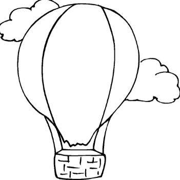 351x351 Hot Air Balloon Coloring Page Printable Drawing Board Weekly