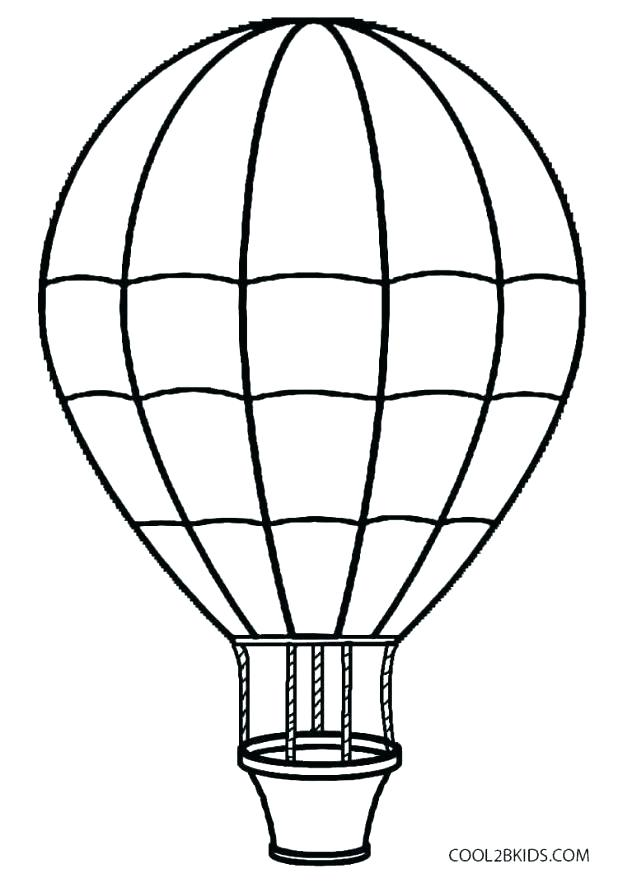 618x883 Hot Air Balloon Coloring Pages Infoguide.club