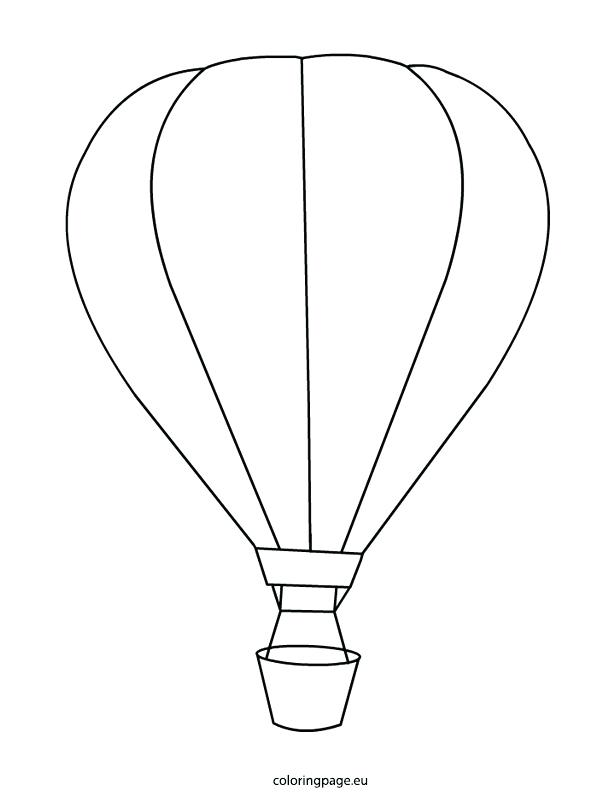 595x808 Coloring Pages Balloons Hot Air Balloon Coloring Page Coloring