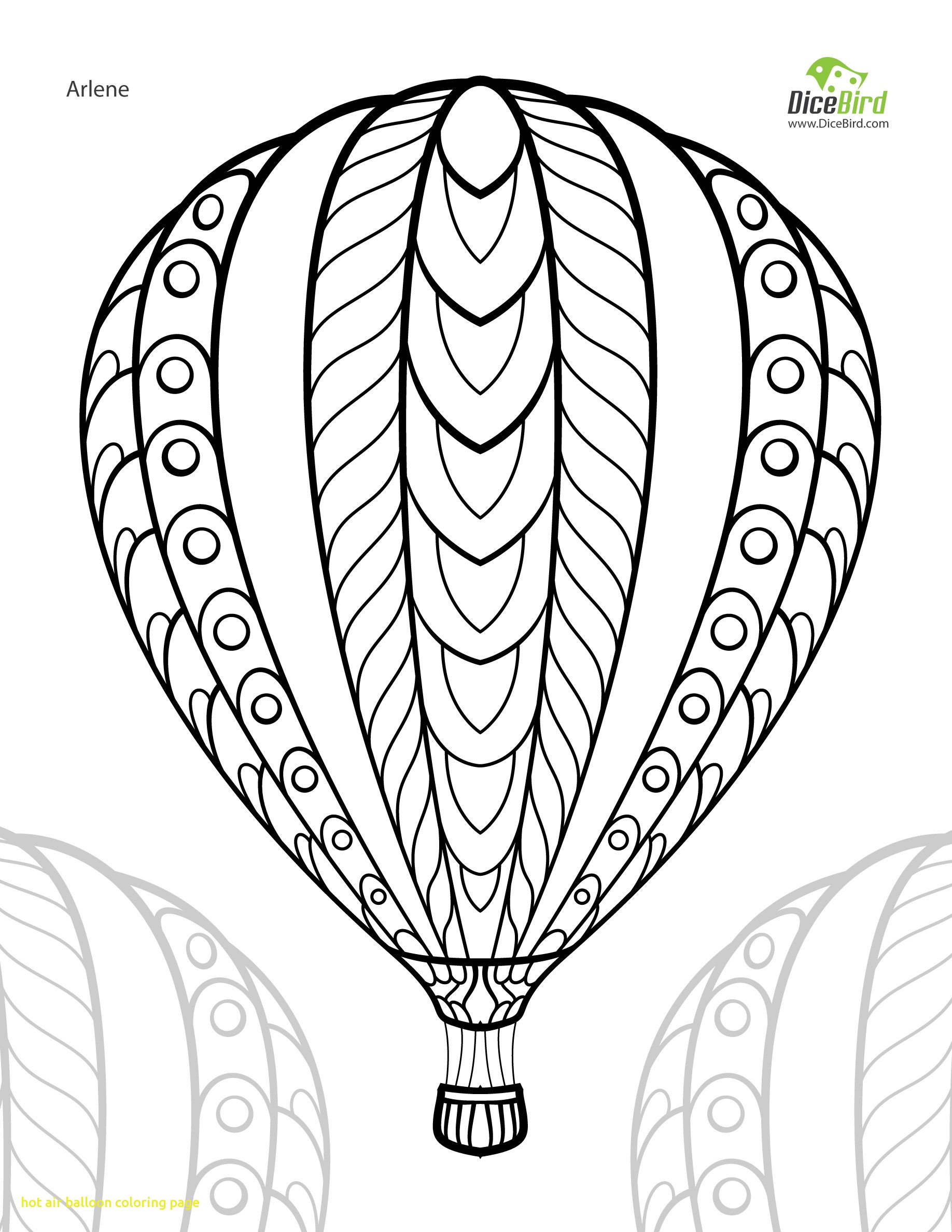 1836x2376 Hot Air Balloon Coloring Page With Cool Hot Air Balloon Coloring