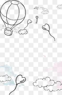 260x398 Drawing Hot Air Balloon, Hot Air Balloon Illustration, Ink Hot Air