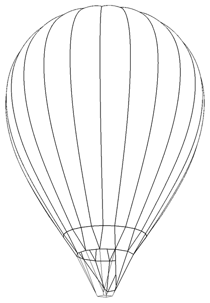 Hot Air Balloons Drawing