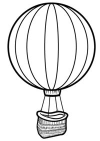 200x282 Drawn Basket Hot Air Balloon