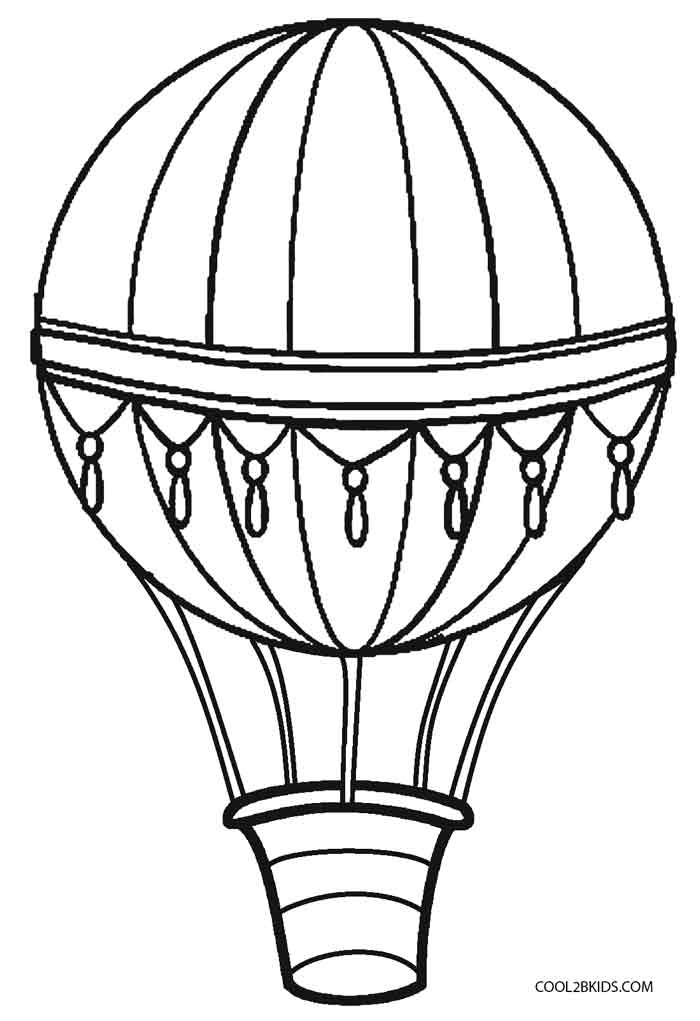 700x1021 Glamorous Air Balloon Coloring Pages 14 In Picture Coloring Page