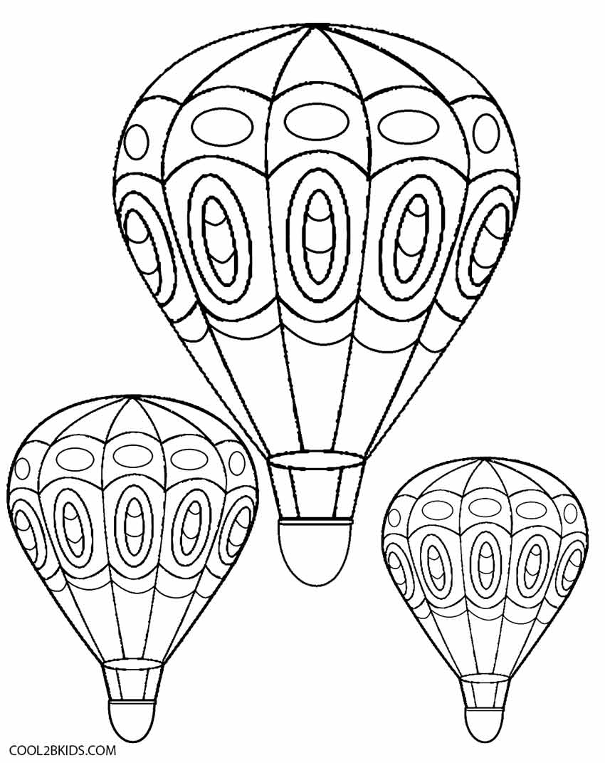 850x1071 Hot Air Balloon Coloring Page Printable Free Download