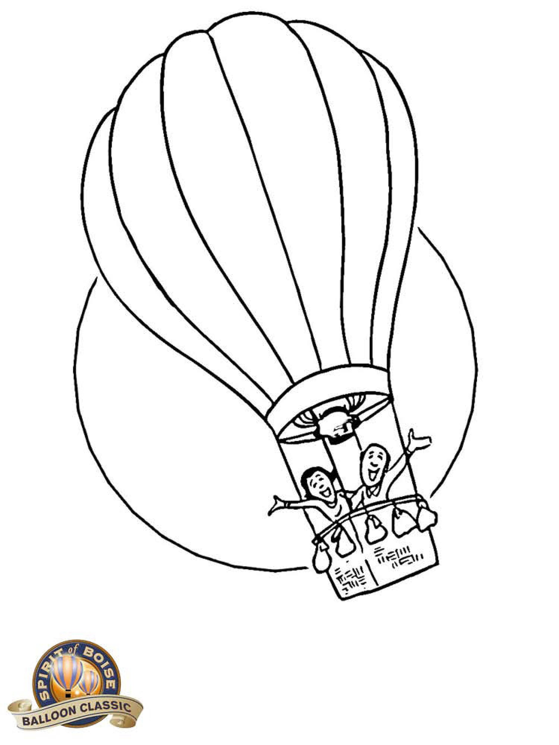 1875x2500 Hot Air Balloon Coloring Pages Spirit Of Boise Balloon Classic