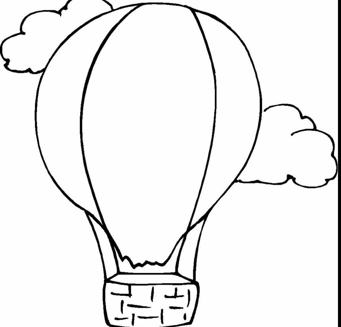 1126x1080 Hot Air Balloon Coloring Pages Clipart Panda Free Printable Kids