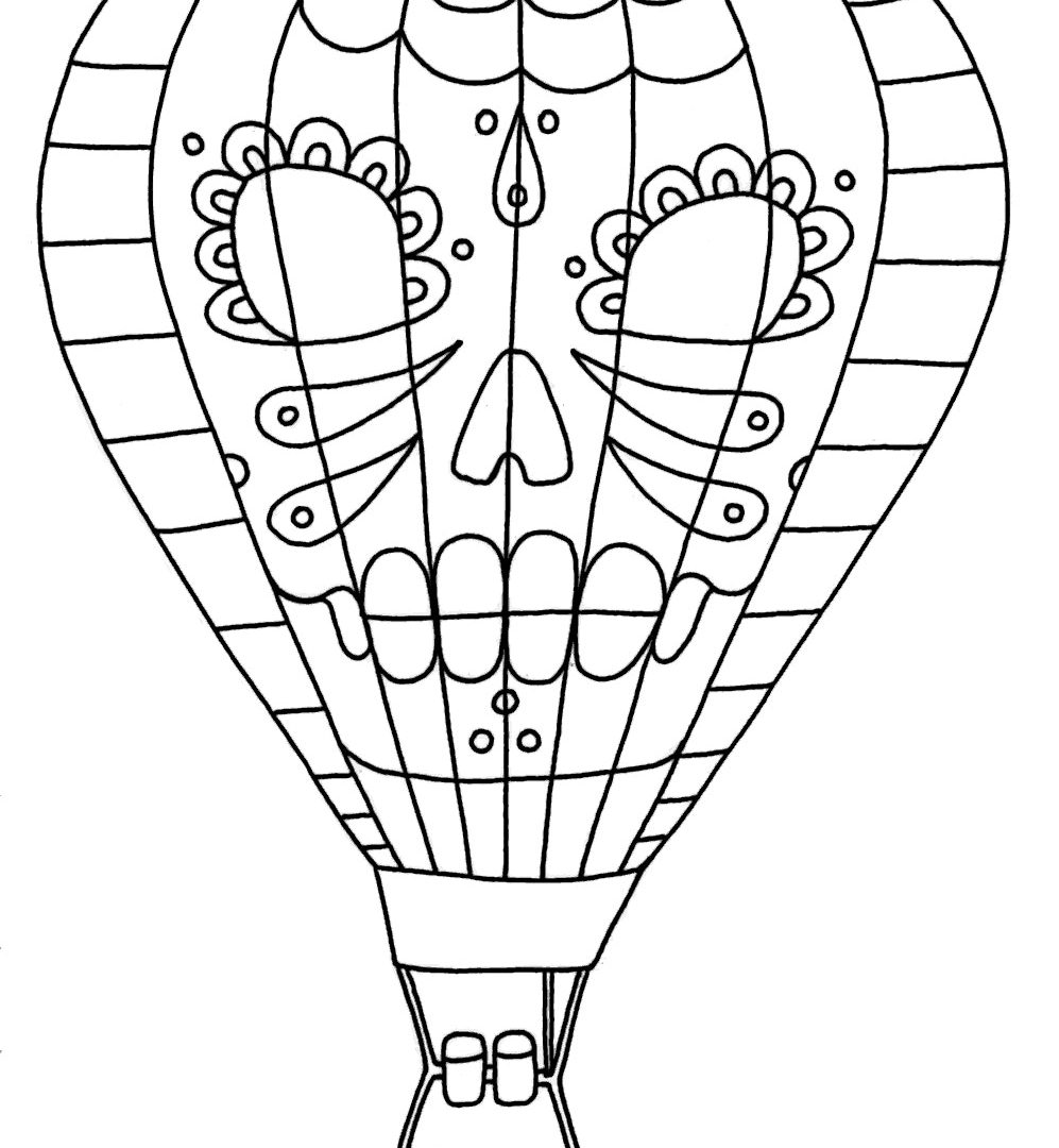 997x1080 Hot Air Balloon Coloring Pages For Preschool Free Printable Kids