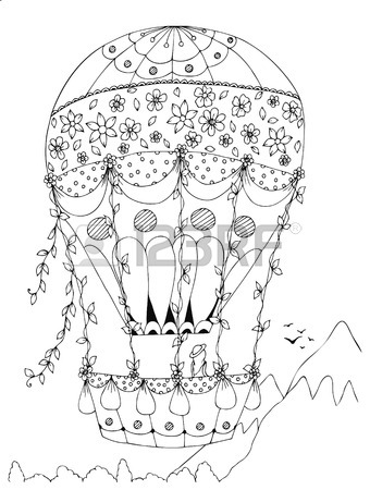 340x450 Hot Air Balloon Drawing Stock Photos. Royalty Free Business Images