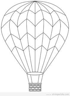 236x324 Hot Air Balloon Template