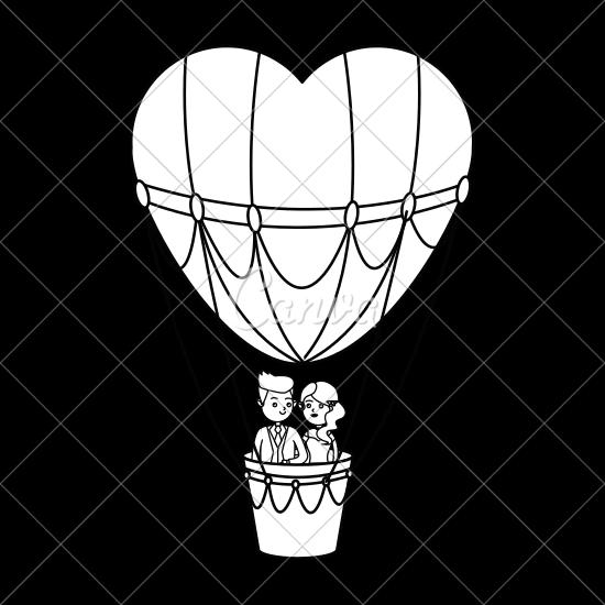 550x550 Hot Air Balloon And Heart
