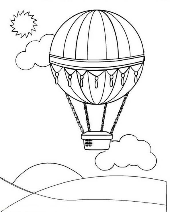 600x738 Hot Air Balloon