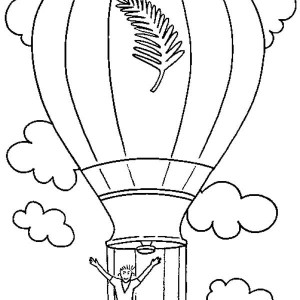300x300 Drawing Hot Air Balloon Coloring Pages Drawing Hot Air Balloon