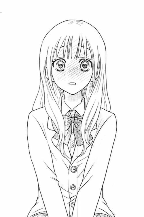 500x750 Anime Girl Monochrome