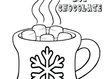 440x330 Hot Chocolate Coloring Page Chocolate Coloring Pages Coloring