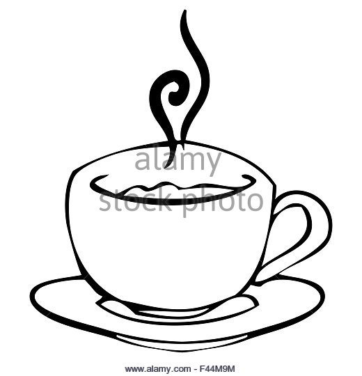 520x540 Hot Chocolate Drawing Black And White Stock Photos Amp Images