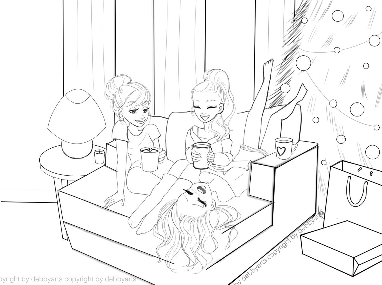 1280x957 Cozy Friends With Hot Chocolate