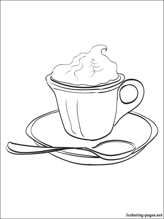 560x750 Hot Chocolate Coloring Page Coloring Pages