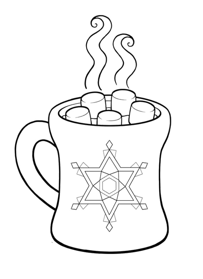 700x961 Pictures Hot Chocolate Cocoa Coloring Pages