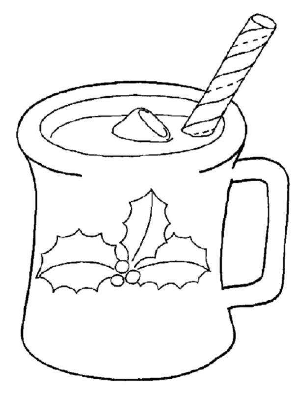 605x800 Hot Chocolate Clipart Black And White