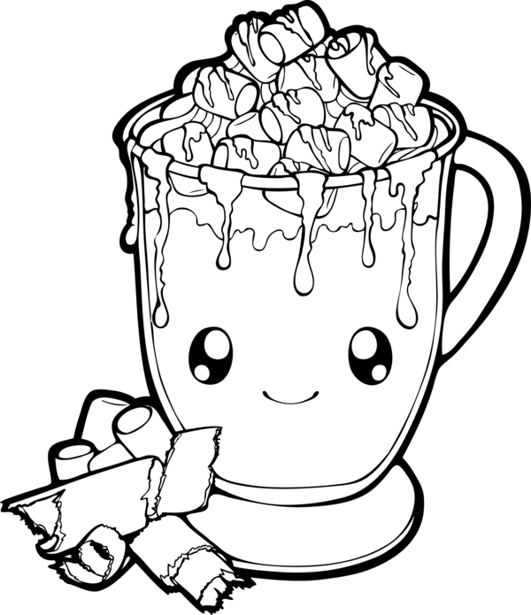 600x695 Dessertie Hot Chocolate Lineart By Chibivi Linearts