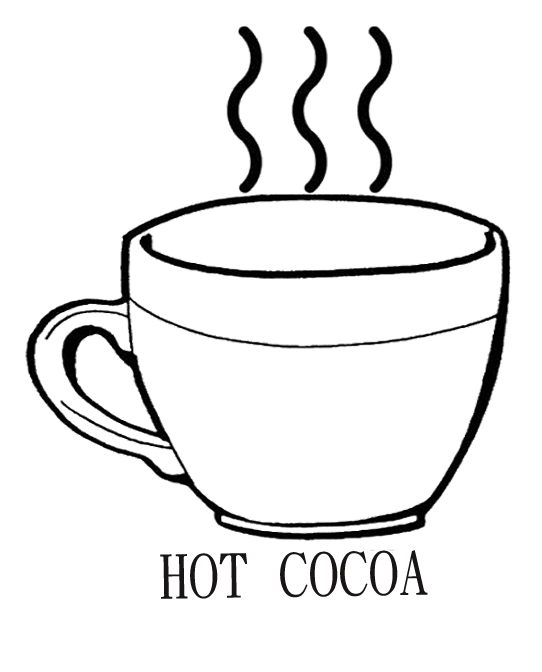 542x672 Drinking Hot Chocolate Cocoa Coloring Page Kids Coloring Pages