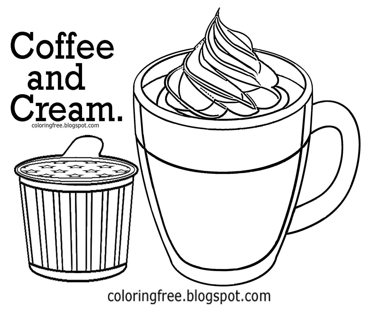 Hot chocolate drawing at free for for Hot chocolate coloring page
