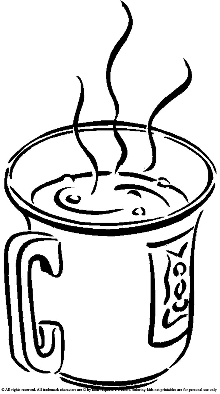 Hot Coffee Drawing