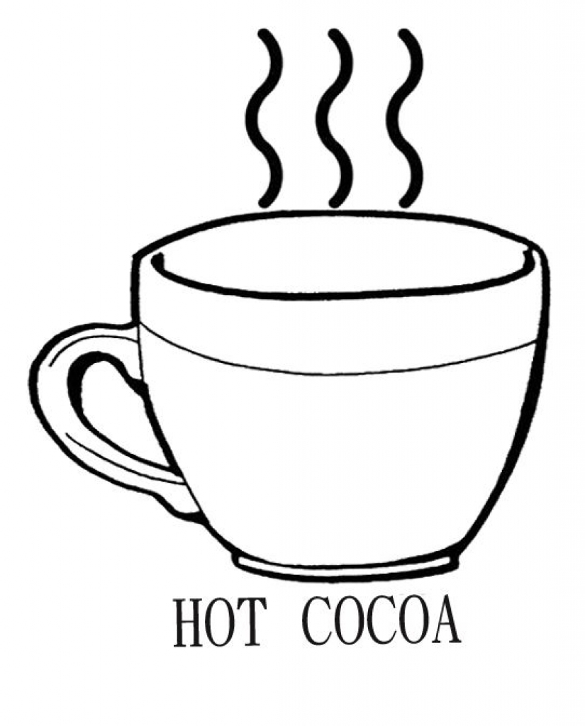 825x1024 Hot Chocolate Mug Coloring Page Printable Free Coloring Book Picture