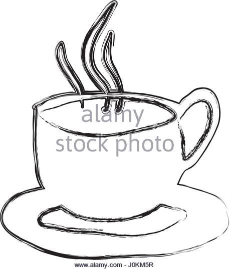 459x540 Monochrome Sketch Hand Drawn Coffee Stock Photos Amp Monochrome