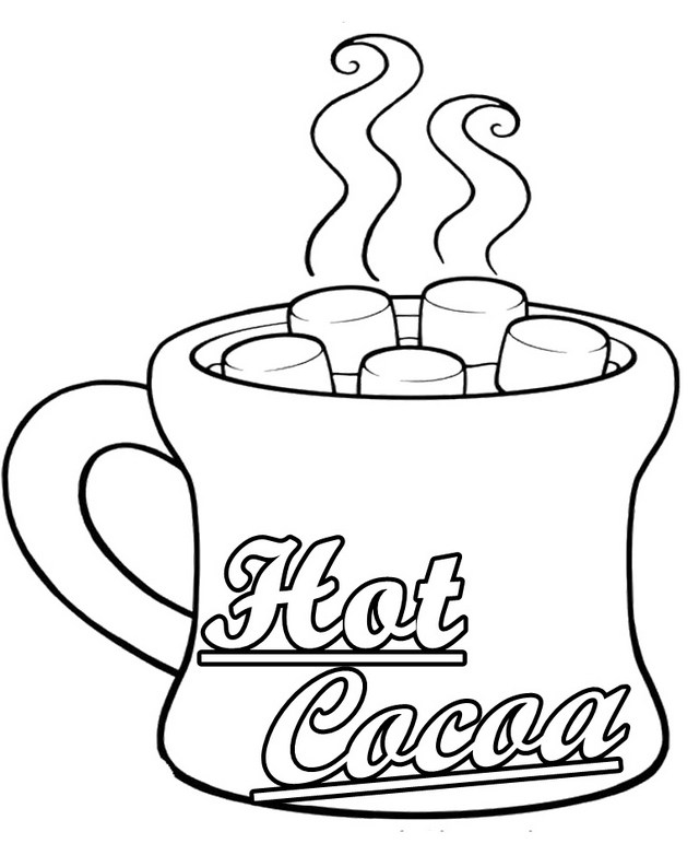 640x793 Rich Cup Of Hot Chocolate Coloring Page Designs
