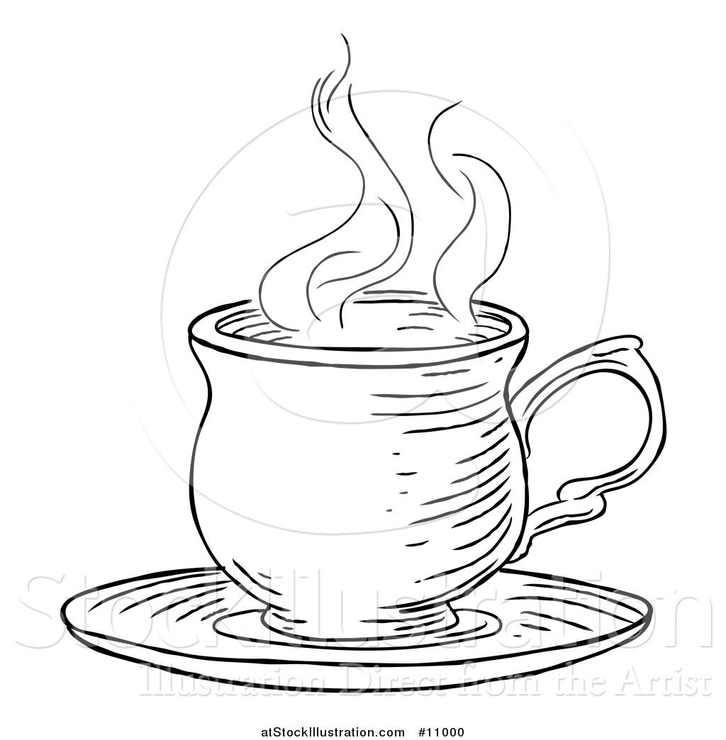 1024x1044 Vector Illustration A Black And White Vintage Engraved Cup