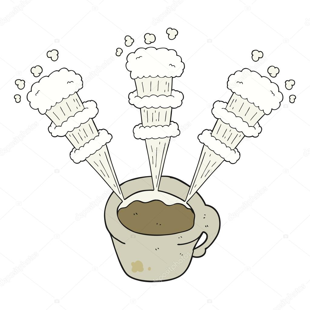 1024x1024 Cartoon Hot Coffee Mug Stock Vector Lineartestpilot