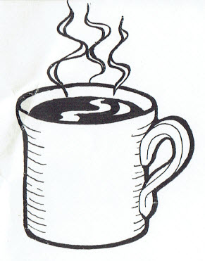 291x371 Hot Coffee Clipart Black And White 8 Clipart Station