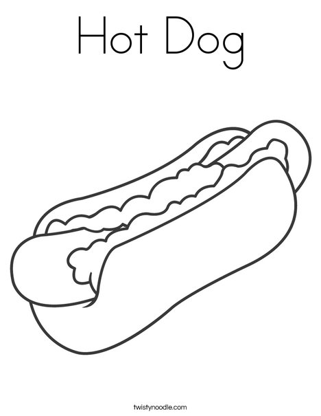 468x605 Hot Dog Coloring Page