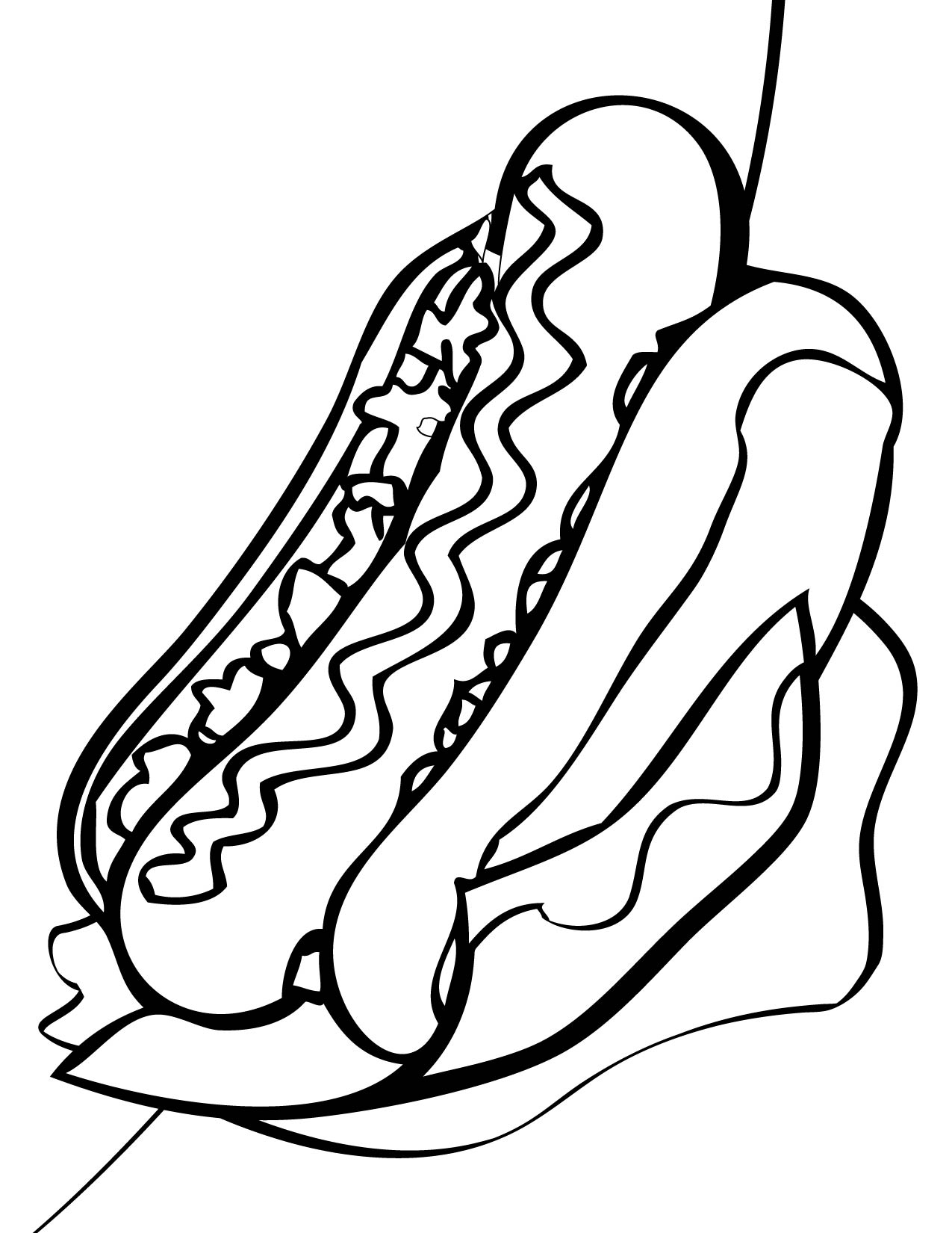 1275x1650 Hot Dog Coloring Pages