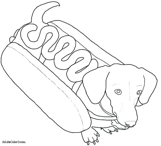 530x480 Hot Dog Coloring Pages Boy And Girl Hot Dogs With Ukulele Coloring