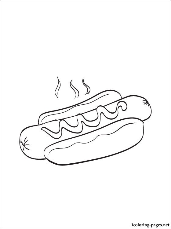 560x750 Hot Dog Coloring Page Coloring Pages